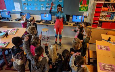Schaatster in de klas