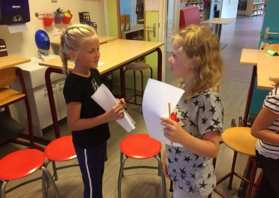 Kinderen goed coöperatief bezig!